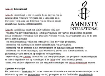 Lesbrief Amnesty International