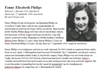 Lesbrief Fanny Philips.